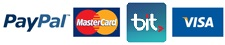 visa, mastercard, bit, paypal